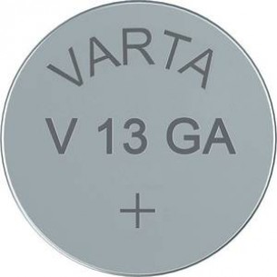 VARTA V 13 GA LR44 gombelem, alkáli mangán, 1,5V, 125 mAh