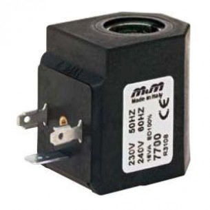 7201, Mágnestekercs magas hőmérsékletű szelepekhez, 24V Váltóáram (AC)