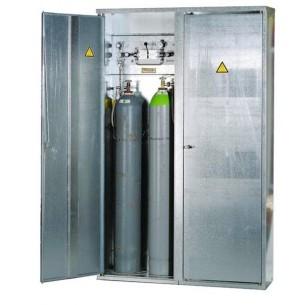 Sűrített gázpalack tároló szekrény/ Empty cylinder storage