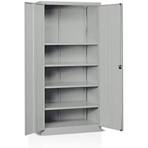 1000x450x2000 mm, grey RAL 7035, 4 shelves