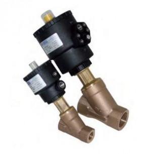 J9SPG2107, Ülékes szelep, bronz, NC, 5/4 coll, fej: 90mm (vízütés mentes kivitel)
