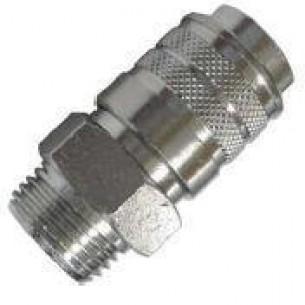 63190-3/8, INOX Gyorscsatlakozó hüvely, 3/8 coll külső menet