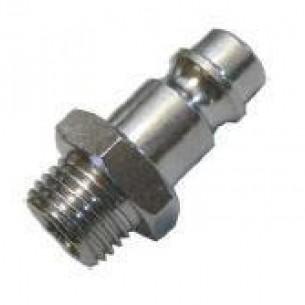 63260-1/4, INOX Gyorscsatlakozó dugó, 1/4 coll külső menet