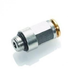 HDS01-6-1/4, Gyorscsatlakozó, egyenes, 250 bar, 6-G1/4