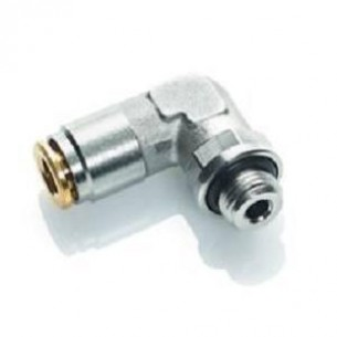 HDS022-6-M6, Gyorscsatlakozó, könyök, 250 bar, 6-M6X1