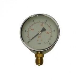 MFS-100-0/1,6B, Manométer, alsó, 100mm, 0/1,6bar, 1/2 coll