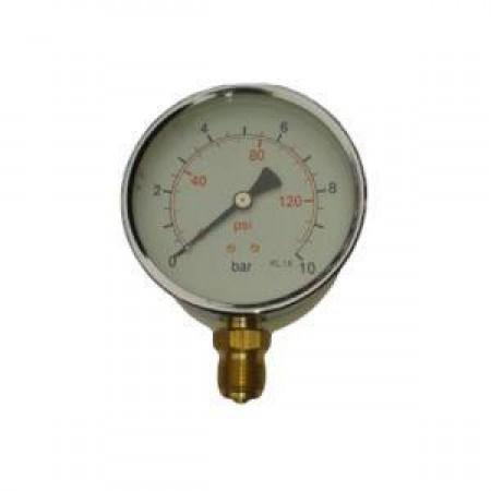 MFS-100-0/10B, Manométer, alsó, 100mm, 0/10bar, 1/2 coll