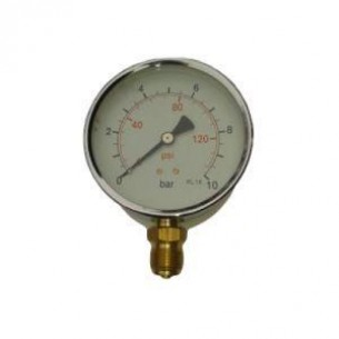 MFS-100-0/4B, Manométer, alsó, 100mm, 0/4bar, 1/2 coll