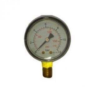 MPS-40-0/10B, Manométer, alsó, 40mm, 0/10bar, 1/8 coll