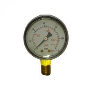 MPS-40-0/6B, Manométer, alsó, 40mm, 0/6bar, 1/8 coll
